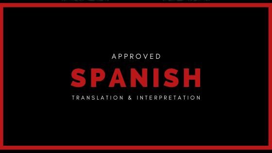 approved spanish translation and interpretation